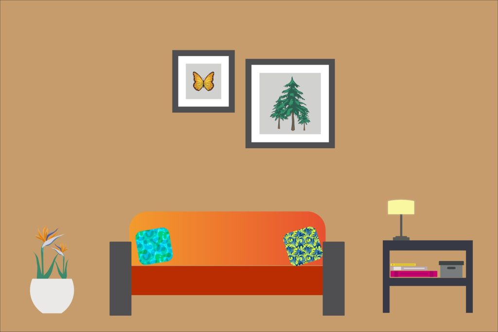 Staing at home - living room image